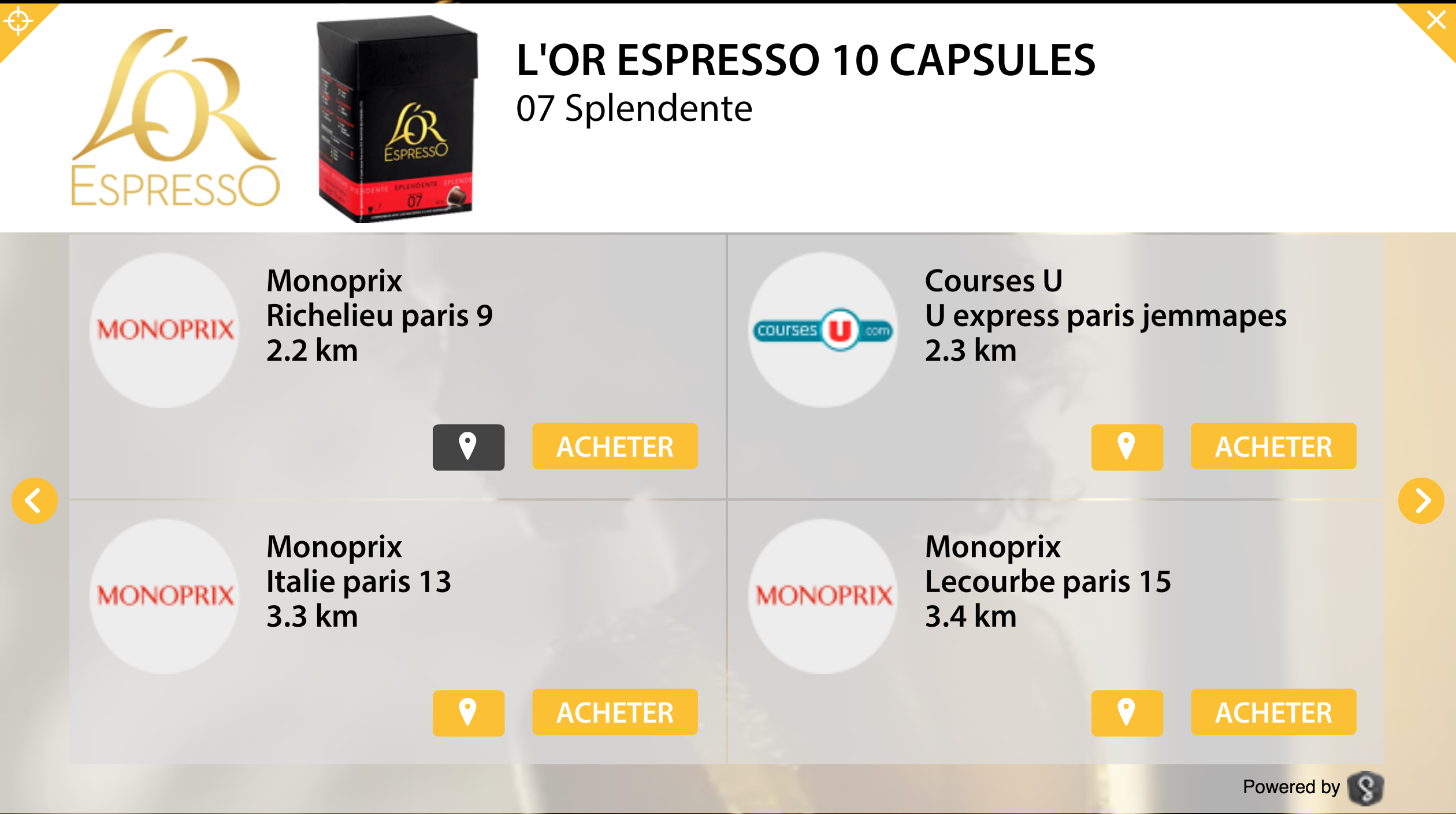 Widget L'Or Expresso Splendente