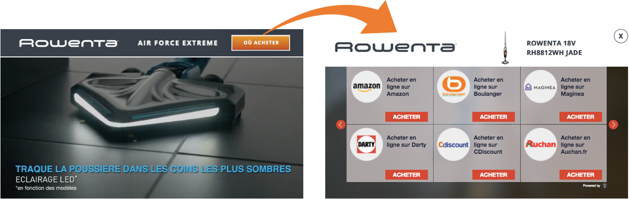 Groupe SEB Rowenta shoppable video