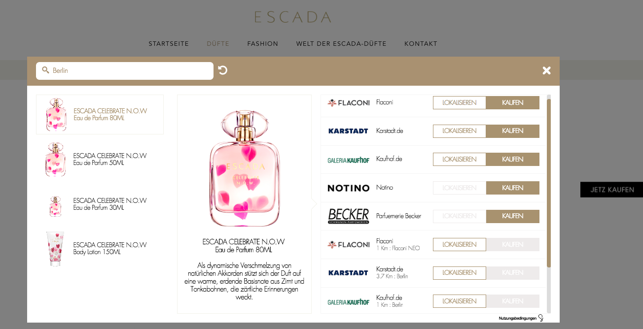 Coty uses Swaven POP for Escada fragrances